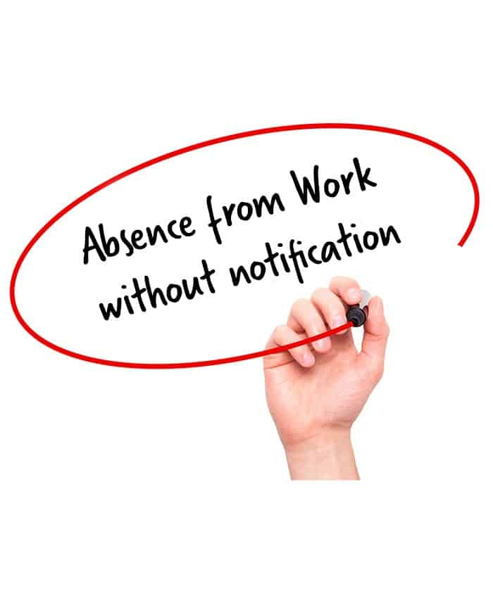 absence from work without notification
