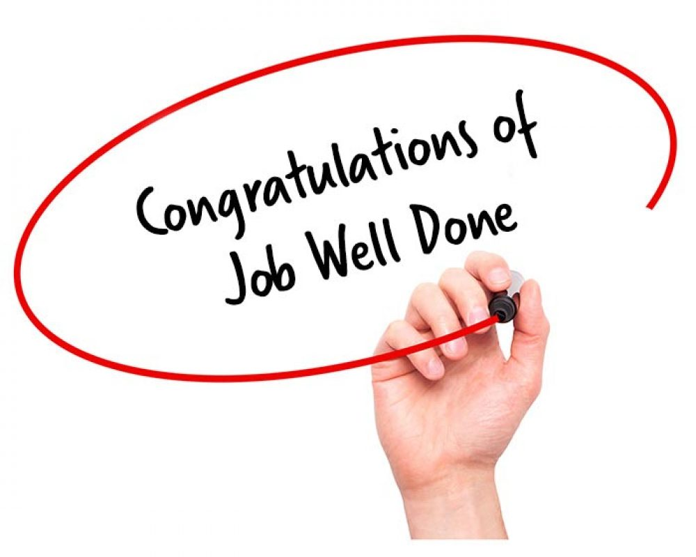 congratulations of job well done letter signature staff