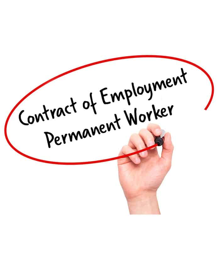Employment contract template for permanent staff for Permanent contract of employment template