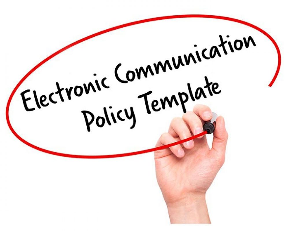electronic communication policy template