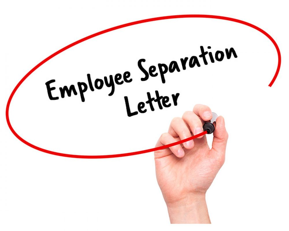Employee Separation Letter Signature Staff