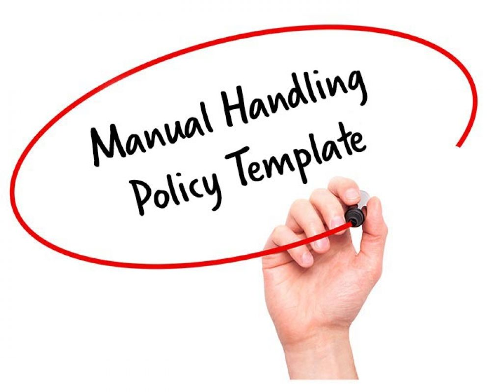 manual handling policy template