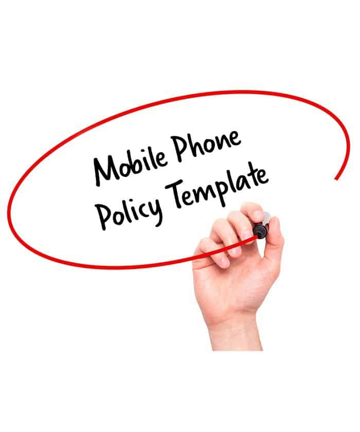 Mobile phone policy template signature staff for Mobile phone policy template