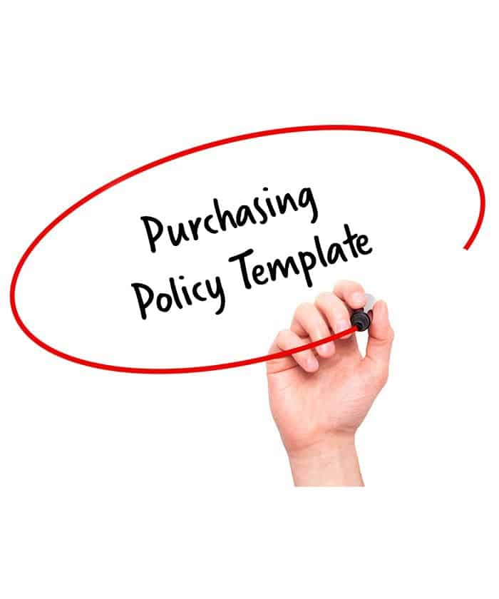 Purchasing policy template signature staff for Purchasing policies and procedures template