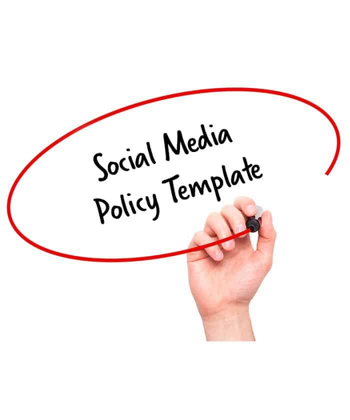 social media policy template signature staff. Black Bedroom Furniture Sets. Home Design Ideas