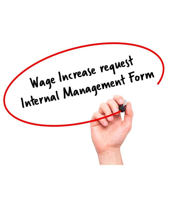 Wage Increase Request Internal Management - Signature Staff