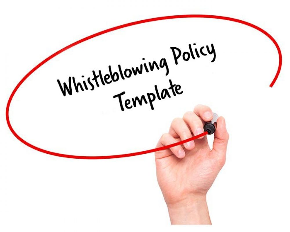 whistleblowing policy template